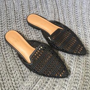 Merona Target woven black slip on mules size 8